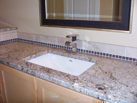 Bathroom with custom sink